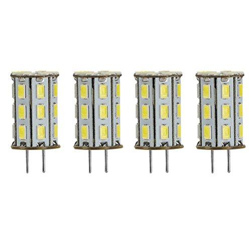 GY6.35 LED 5W als Ersatz für 35W Halogen Lampen ZSZT 12V Kühl Weiß 6000K für Schreibtischlampe, Kristall Scheinwerfer-Birne (4 Packs) -