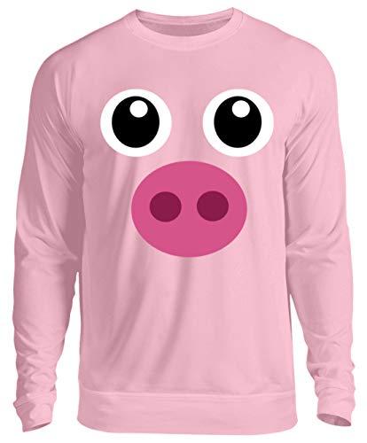 Pinkes Schweinchen T-Shirt Halloween Süßes Schwein Geschenk - Unisex Pullover -XL-Baby Pink