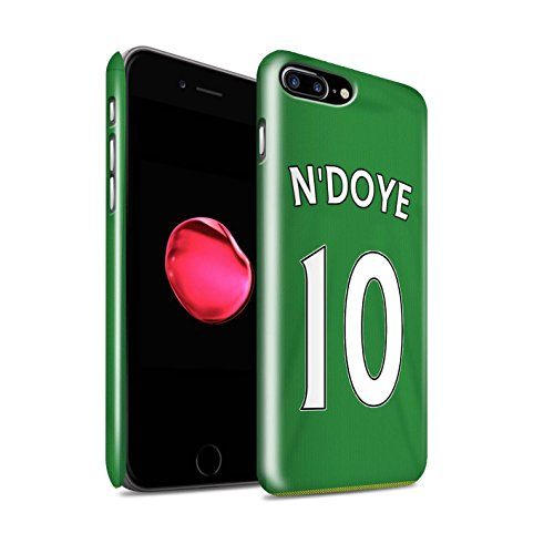 Offiziell Sunderland AFC Hülle / Glanz Snap-On Case für Apple iPhone 7 Plus / Kirchhoff Muster / SAFC Trikot Away 15/16 Kollektion N'Doye