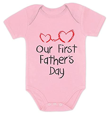 Our First Father's Day - Daddy and Me Cutest Gift Bodysuit Baby Grow Vest Cute Onesie 3 - 6 months