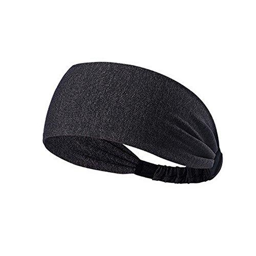 Wascoo Stirnband für Männer Elastic Sports Stirnband Haarband für Fashion Performance Fitness und Laufen für Gym Tennis Basketball (Für Männer Hippie-stirnbänder)