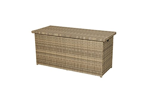 Ploß Outdoor furniture Rabida Kissenbox, 61 liters, Champagner-meliert, 145 x 58 x 73 cm