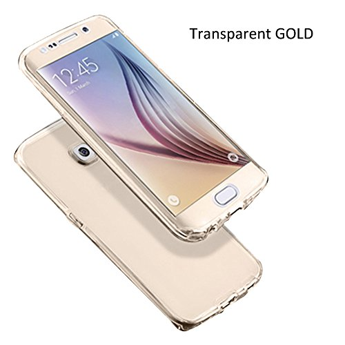 "Shockproof TPU Clear Case Coque pour Apple iPhone 6 / 6S 4.7"" - Yihya Ultra Slim Soft Gel Silicone TPU 360°Protective Housse Etui Couvertures Avant et Arrière Transparent Cover--Transparent Or"