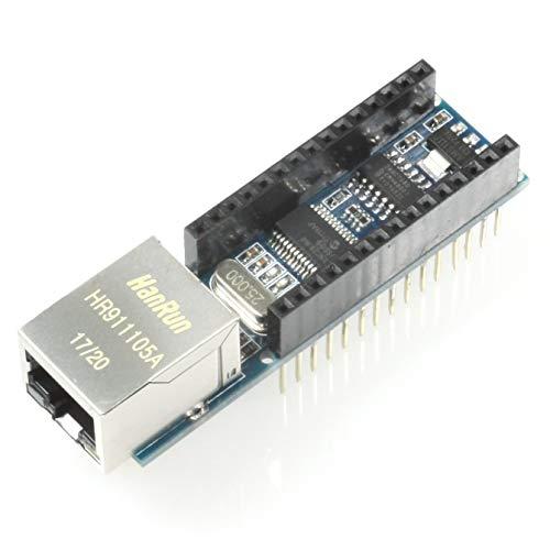 Paradisetronic.com Ethernet Shield, Erweiterung für Arduino Nano mit ENC28J60, RJ45, z.B. für Webserver-Applikationen, IoT