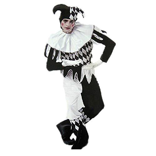 Zoylink Clown Kostüm Neuheit Cosplay Kostüm Halloween Party Kostüm mit Hut