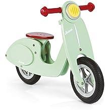 Janod 4503243 - Bicicleta de madera (sillín ajustable de 32 a 36,5 cm), color verde menta