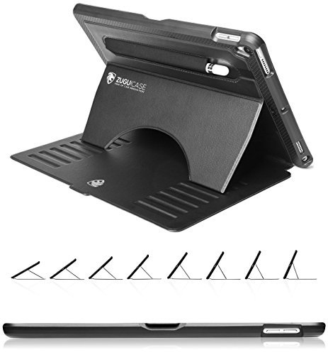 ZUGU CASE - 2019 iPad Air 10.5/2017 iPad Pro 10.5 Inch Case Prodigy X - Very Protective but Thin With Convenient Magnetic Stand With Sleep/Wake Cover (Black) (Touch Billig Otterbox Für Ipod Den)
