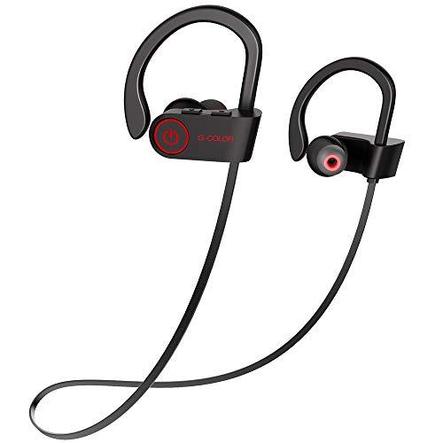 G-Color Bluetooth Kopfhörer mit Wasserdichtklasse, Lauf-Trainings Bluetooth Headset für iPhone, Samsung und mehr