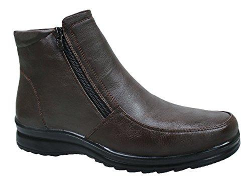 Scarpe stivaletti uomo testa di moro casual invernali sneakers polacchine con pelliccia interna numero 40 41 42 43 44 45 (43)