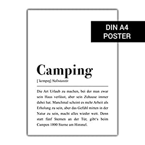 Camping Definition: DIN A4 Plakat