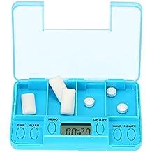 Anself - Caja de Plastillas Inteligente (4 Multi-Alarmas con Temporizador) Pastillero Electrónico para Recordatorio de Tabletas de Medicina a Mayores Pacientes