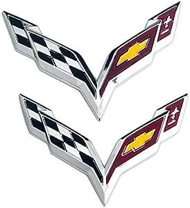 D28jd Logo Emblem Für Die Motorhaube Und Heckklappe Heckklappen Stamm Abs Buchstaben Aufkleber Für C Hevrolet Corvette Silber Küche Haushalt
