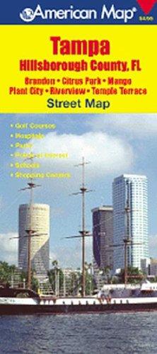 Tampa, Hillsborough County, FL Street Map: Brandon/Citrus Park/Mango Plant City/Riverview/Temple Terrace (American Map) -