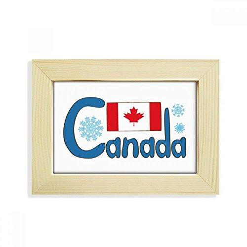 DIYthinker Kanada National Flagge Blau-Muster-Desktop aus HÖlz Bilderrahmen Fotokunst-Malerei Passt 10.2 x 15.2cm (4 x 6 Zoll) Bild Mehrfarbig