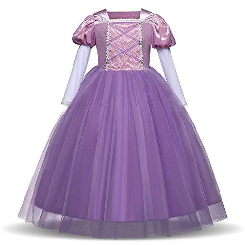 YLYF Halloween-Kostüme für Mädchen, Halloween-Kostüme Prinzessin Kleid lila Kleid-110