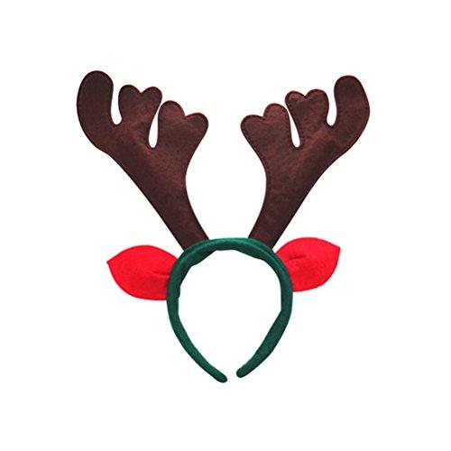 (LUOEM Geweih Stirnband Rentier Weihnachten Stirnband Haarband Weihnachten Kostüm Zubehör Haarschmuck)