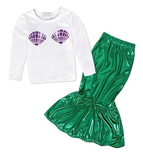 6947fe9d7bad AmzBarley Little Mermaid Dress up Costume Kids Girls Ariel Theme Party  Outfit Fancy Dress Children Dance