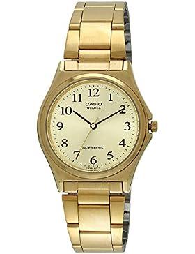 Casio–mtp-1130N-9b–Armbanduhr–Quarz Analog–Armband Edelstahl gold