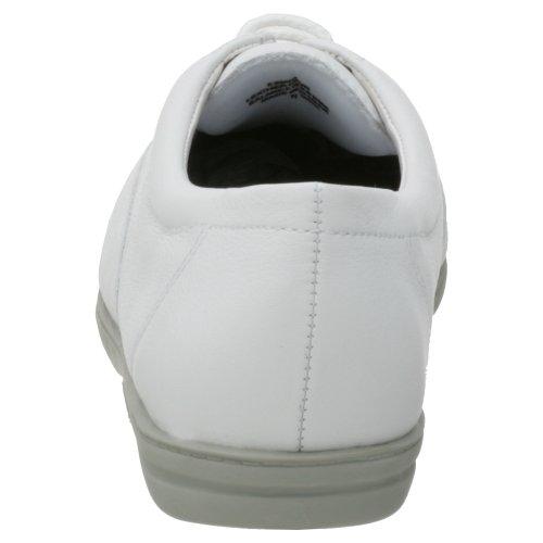 Easy Spirit Motion Breit Rund Leder Schnürschuh White Leather