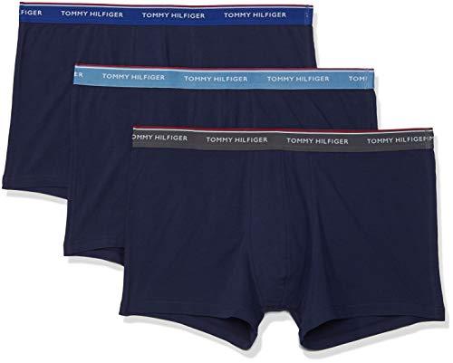 Tommy Hilfiger Herren 3P Trunk Boxershorts, Blau Heaven/Mazzarine Blue/Iron Gate (Pe 803), Medium (erPack 3)