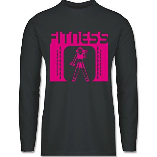 Sonstige Sportarten - Fitness - Longsleeve / langärmeliges T-Shirt für Herren Anthrazit