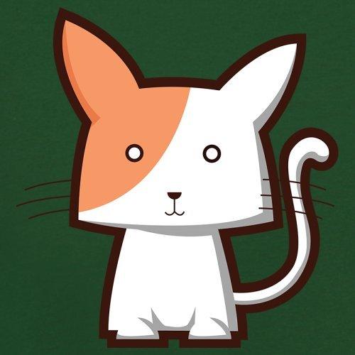 Cute Cat - Herren T-Shirt - 13 Farben Flaschengrün