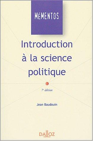 Introduction à la science politique par Jean Baudouin