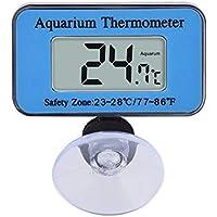 Yililay Sucker LCD del Acuario Termómetro Digital Termómetro mar Vivarium Rango de Temperatura a Prueba de Agua Sumergible del Acuario Termómetro, Suministros de Mascotas