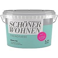 SCHÖNER WOHNEN FARBE Wand- und Deckenfarbe Trendfarbe Frozen, matt, 2,5 l 2 l, Frozen