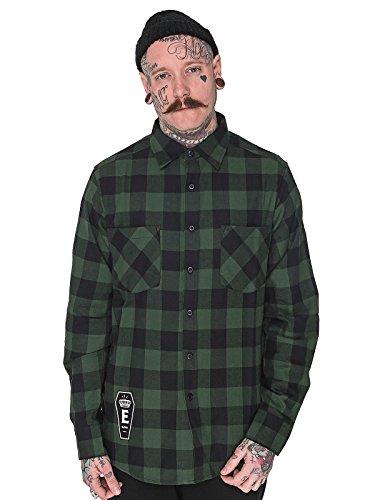 Elevencult -  T-shirt - Uomo Schwarz Grün Medium