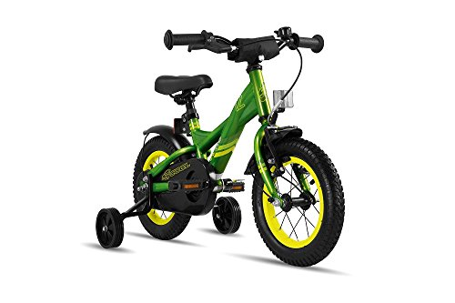 S'COOL Kinder XXlite Steel 12 Kinderfahrrad Green/Yellow Zoll