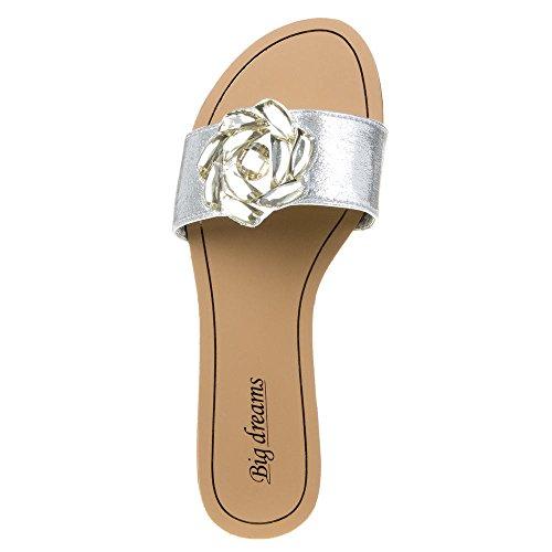 Damen Schuhe, H176, SANDALEN Silber