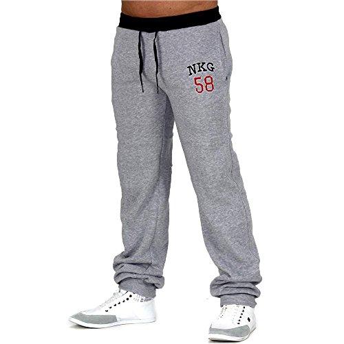 Pantaloni della tuta Uomo ID629 (vari colori), Präzise Farbe:Grau/Schwarz;Größe-Hosen:XL