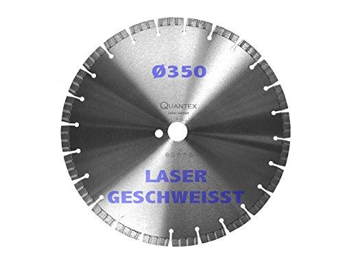 Preisvergleich Produktbild Diamant Trennscheibe Laser geschweißt 350mm. Beste Qualität. Top-Preis. Lasergeschweißt. Trennjäger, Flexscheibe, Motortrenner