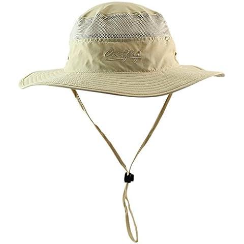 FEOYA Mujer Hombre Sombrero de Pescador de Ala Ancha Anti-UV Algodón Plegable Selva Gorra Sunhat Bucket Hat Boonie Hat para Acampanada Pesca Senderismo Outdoor