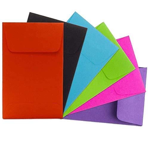 JAM PAPER #3 Münzumschläge - 63,5 x 107,9 mm - Gemischte Farben - 150/Packung -