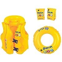 JILONG Swim Kid Set - Set de Aprendizaje Hinchable: Flotador, Chaleco y Manguitos