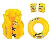 Jilong Swim Set für Kinder von 3-6 Jahre Schwimmflügel Schwimmweste Schwimmring