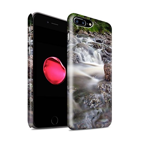 STUFF4 Matte Snap-On Hülle / Case für Apple iPhone 8 Plus / Strom Muster / Wasserfälle Kollektion Felsigen Stream