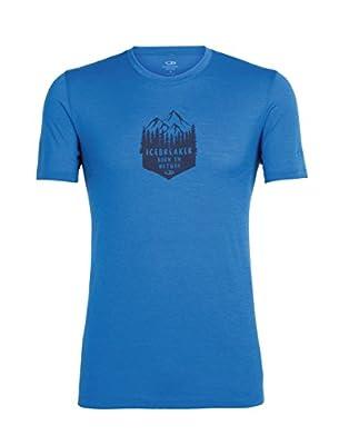 Icebreaker Herren Tech Lite Short Sleeve Crewe High Mtn Crest T-Shirt von ICEA5|#Icebreaker auf Outdoor Shop