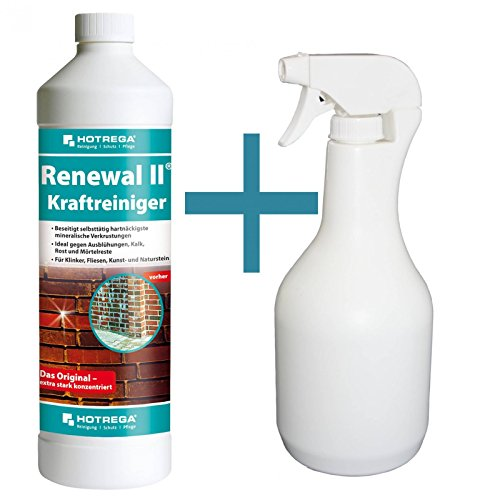 HOTREGA Renewal II Kraftreiniger 1 Liter Konzentrat + Sprühflasche 1 Liter
