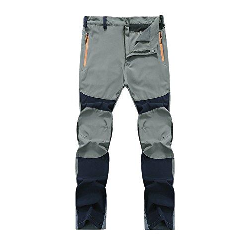 Ujunaor pantaloni tattici dei pantaloni caldi rampicanti di escursione all'aperto impermeabile degli uomini(xxx-large,marina militare)