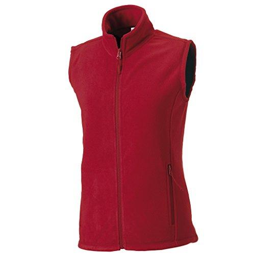 Cadet Kragen Jacke (MAKZ Russell Damen Outdoor Fleece Weste Gr. Large, Classic Red)