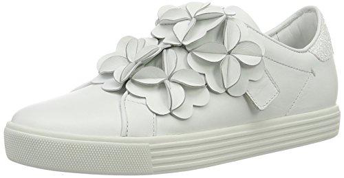 Floral Glitter-applikationen (Kennel und Schmenger Schuhmanufaktur Damen Town Sneaker, Weiß (Bianco Sohle Weiss), 37.5 EU)