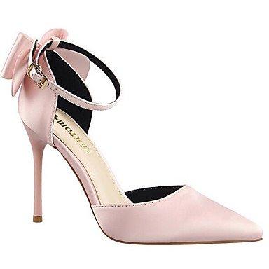 pink Rosa Oro Piatto Seta LvYuan donna blushing Borgogna Da Tacchi PU ggx Poliuretano Primavera zOW6Rqw1x4