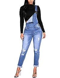 Donne Pantaloni Donna Salopette in Jeans Overall Pantaloni Lunga 4983ebdd914