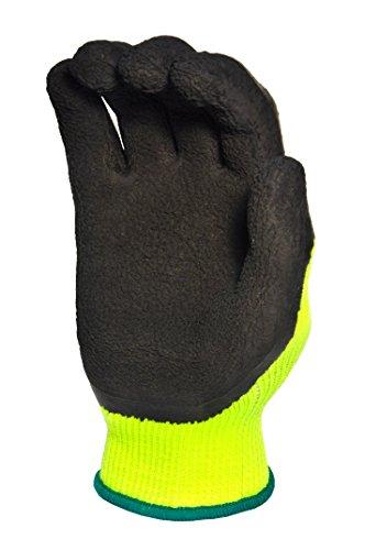 G & F 1516x l Premium Hohe Sichtbarkeit alle Zweck MICROFOAM Doppelter texure Beschichtung Sicherheit Arbeit und Garten Handschuhe für Damen und Herren, S, grün, 1 - Textured Foam