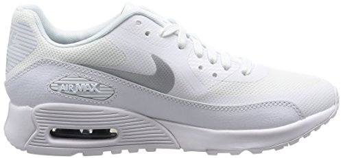 Nike Damen Wmns Air Max 90 Ultra 2.0 Sneakers, Elfenbein (White/Mtlc Platinum/White/Black), 38 EU - 6