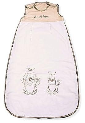 Sacos de Dormir para Bebé, Leon & Tigre, Kiddy Kaboosh Varios Tamaños, Ligero, 0.5 Tog
