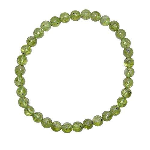 Peridot / Olivin Armband Kugel Ø 6 mm schöne klare grüne Farbe.(3865)